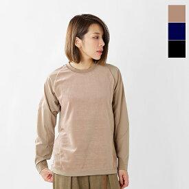 【2019aw新作】and wander(アンドワンダー)フリースベースクルーネックTシャツ aw93-jt644-tr