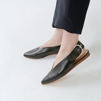 FABIO RUSCONI (ファビオルスコーニ) pointed toe slit belt leather mule s-3399-mm