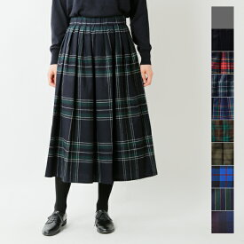 【最大47倍】【2019aw新作】O'NEIL OF DUBLIN(オニールオブダブリン)aranciato別注 ウールブレンドタックチェックロングスカート s26582-rf