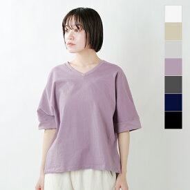 【2021ss新作】Commencement(コメンスメント)コットンVネックドルマンスリーブTシャツ c-008-yn