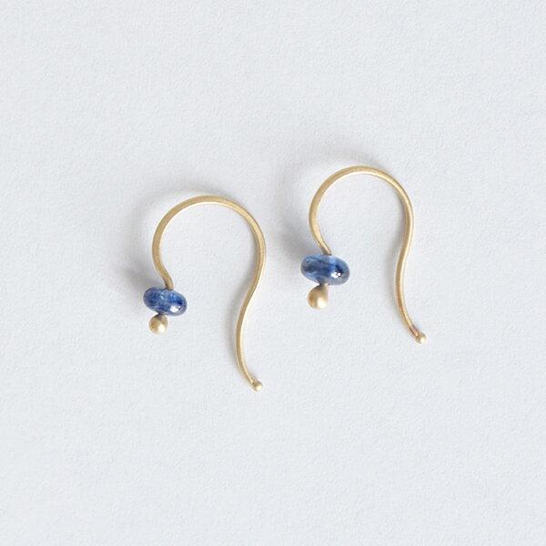 """■【最大47倍】【2018ss新作】Carla Caruso(カーラ・カルーソ)14kt goldピアス サファイア・パール""""Gem Drop Earrings"""" p-d-03-04-tr"""