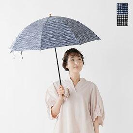 【☆】Bon Bon Store(ボンボンストア)晴雨兼用 防水&UV撥水加工 ドローイングチェック折りたたみ傘 bon-19004-mt
