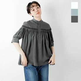 【最大36倍】【2019ss新作】Scye(サイ)リネン高密度半袖タックシャツ 1219-31029-yn