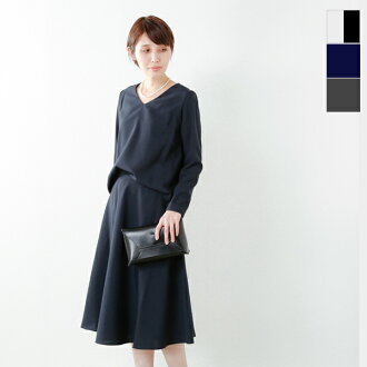 MICA&DEAL(雲母和發牌)V字領喇叭形裙子裝置m18a051-ms