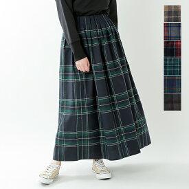 【最大47倍】【2019aw新作】O'NEIL OF DUBLIN(オニールオブダブリン)aranciato別注 ウールブレンドタックチェックロングスカート s26592-rf【サイズ交換初回無料】