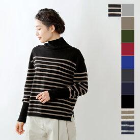 【☆】【2019aw新作】mao made(マオメイド)32/2ソフトコットンタートルネックリブニットプルオーバー 941103-ma
