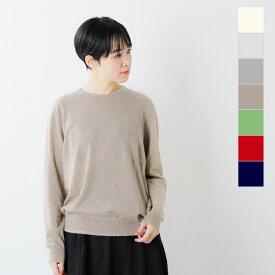 【2020aw新作】Cashmere Silk Company(カシミヤシルクカンパニー)カシミヤシルククルーネックニットプルオーバー 315-ms