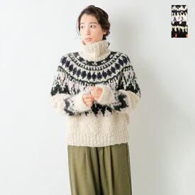 【2020aw新作】unfil(アンフィル)モヘアカシミヤブレンドハンドニットセーター wzfl-uw128-mm