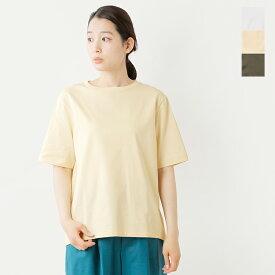 【☆】【2021ss新作】unfil(アンフィル)オーガニックコットンバックスリットジャージーTシャツ wosp-uw129-rf