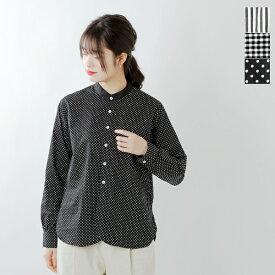 Manual alphabet(マニュアルアルファベット)aranciato別注 ハイシルキーコットンクレリックカラーシャツ mal-ac-sh-001c-fn