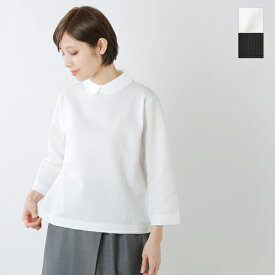 【2020ss新作】GRANDMA MAMA DAUGHTER toro(グランマ ママ ドーター トロ)aranciato別注 サッカーストライプラウンドカラーTシャツ tc914161-rf