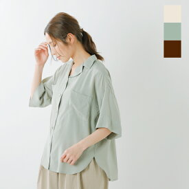 "【50%OFF】【最大42倍】kelen(ケレン)T/Rサテンオープンカラーシャツ""Port"" lkl20hbl2-ms"