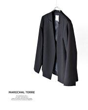 MARECHALTERRE(マルシャルテル)マイクロT/Rチンツ加工シームテーラードジャケットzmt206jk215