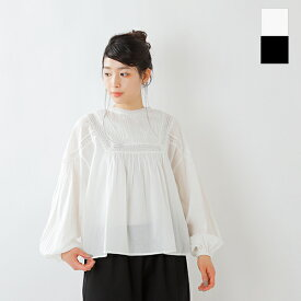 【2021ss新作】tumugu(ツムグ)2wayカディコットンピンタックプルオーバーフレアシャツ tb21139-tr