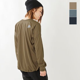 """【2019aw新作】and wander(アンドワンダー)ドライジャージーロングスリーブTシャツ""""dry jersey long sleeve T for WOMEN"""" aw93-jt926-mm"""