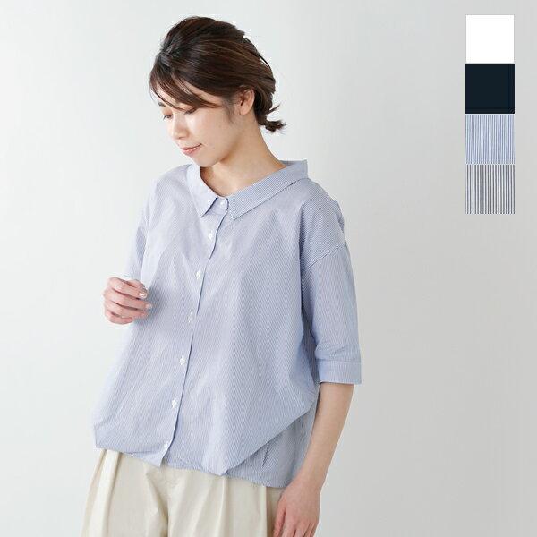 """kelen(ケレン)5分袖変形タックシャツ""""TYDE"""" lkl17hbl27-tr"""