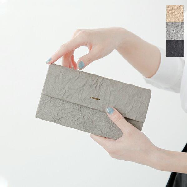 "【☆】irose(イロセ)シワ加工ロングウォレット""paper long wallet"" acc-p15-ms"