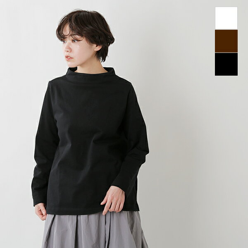 【20%OFF】nisica(ニシカ)ガンジーネックコットン長袖カットソー nis-819-tr