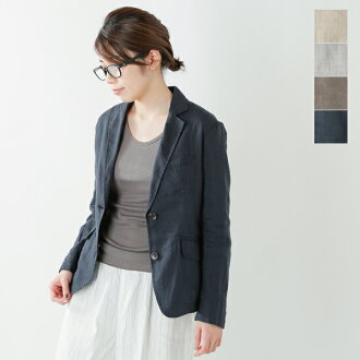 NOMBRE IMPAIR (page number Ampere) French linen tailored jacket 01-1-02-001-7-1-tr