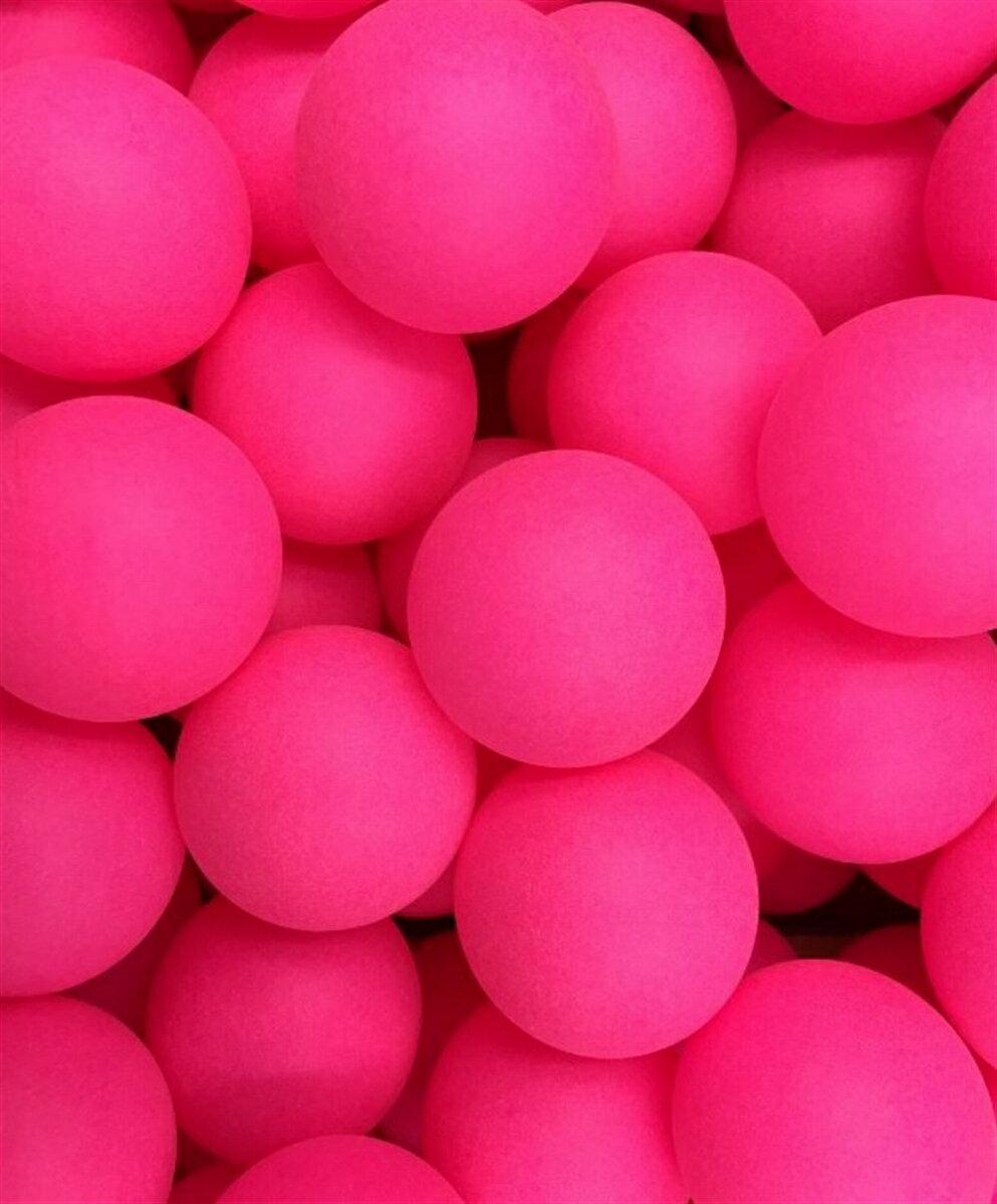 卓球 ボール カラー ピンポン 玉 40mm イベント用 シームレス 球 ロゴ無し PP材 (ピンク:100個セット)