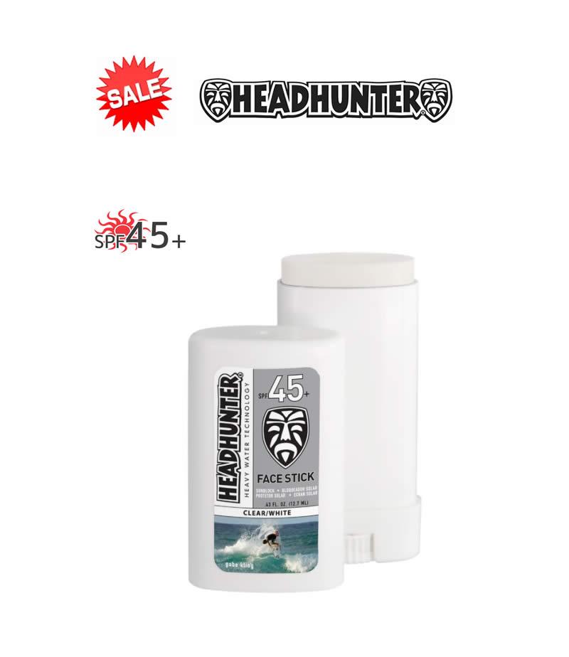 【新品】HEAD HUNTER(ヘッドハンター)日焼止め スティック [CLEAR/WHITE] FACE STICK SPF45 強力ウォータープルーフ