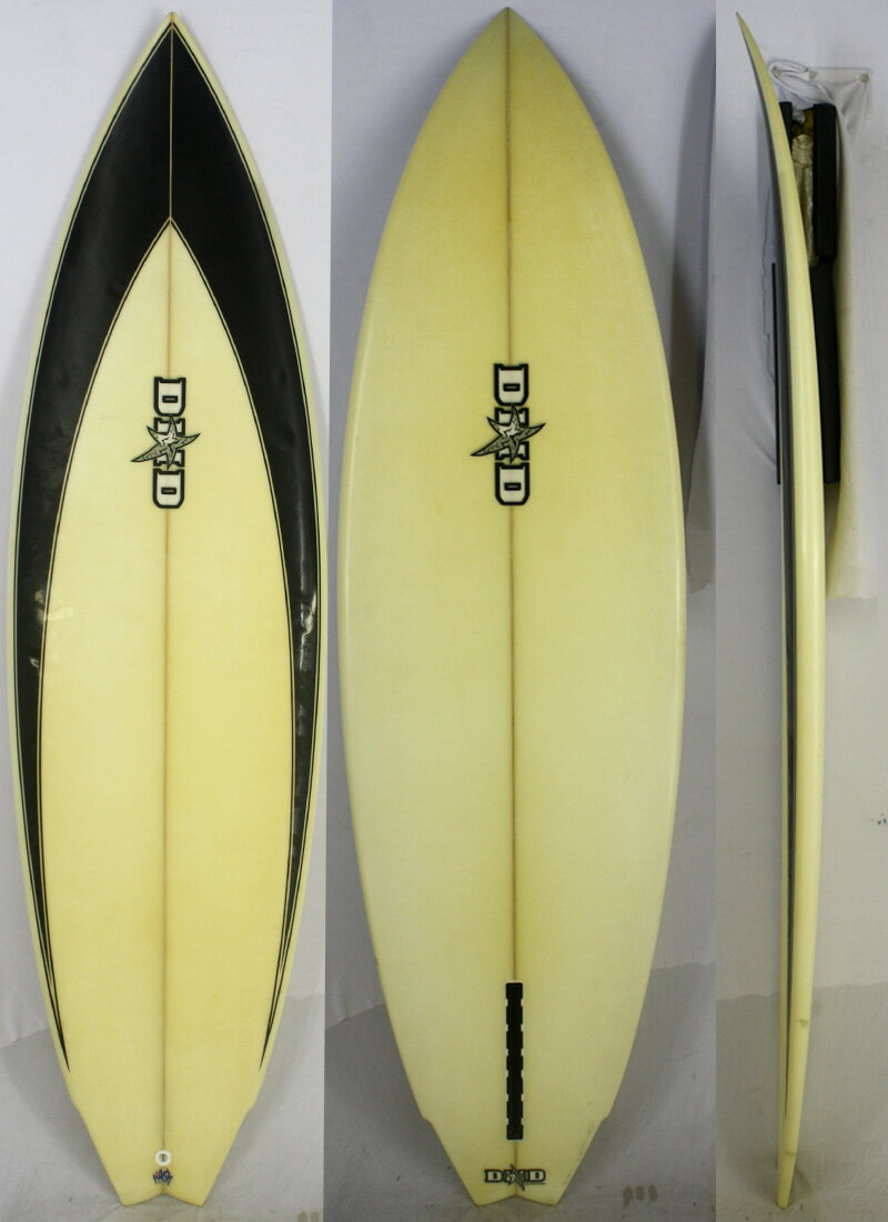 【中古】】DHD(ダレンハンドレー) シングルフィン サーフボード [brush] 175.5cm ショートボード