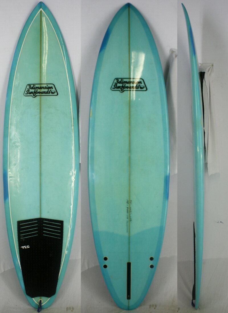 """【中古】】3Dimension surfboards(スリーディメンション)サーフボード [brush] 7'3"""" ファンボード"""