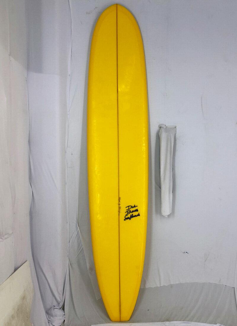 """【中古】DICK BREWER SURFBOARD (ディックブルーワーサーフボード)Shaped by Shimoju サーフボード[Yellow] 9'4"""" ロングボード"""