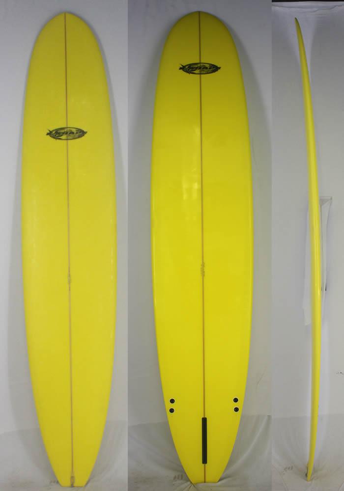 """【中古】 K-SHAPE HAPPY BRAND (ケイシェイプハッピーブランド) ロングボード [YELLOW]9'5"""" サーフボード"""