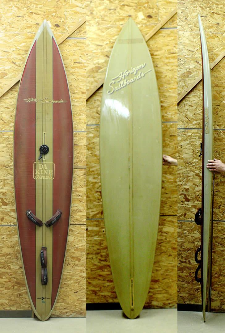 290cm【中古】ウインドサーフィン HORIZON SAILBOARD [REDライン] 希少 ビンテージ!! インテリアにも!! 中古ウインド WIND SURFIN 現品1本限り!