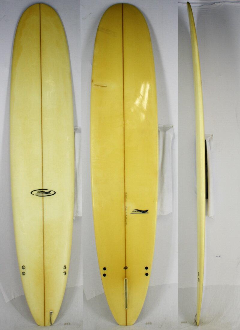 """【中古】 MARINE ATHLETE Surfboards Shape by Eiji Shiomoto サーフボード [clear] 9'8"""" ロングボード"""