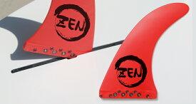 """【新品】ZEN 9"""" エフェクトシステム センターフィン [RED] SCHOOL ロングボード スタンドアップパドル SUP 用 ワンタッチフィン"""