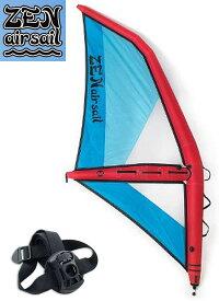 【極上中古】 Zen (ゼン) Air sail エアーセイル M サイズ 3.2 [RED×BLUE] ストラップアダプター 付き