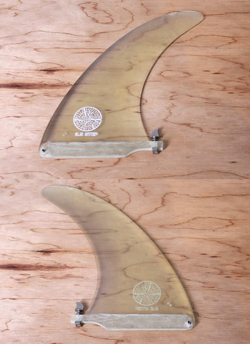 """【中古】joel tudor(ジョエルチューダー)STEP モデル フィン [Clear] 9.5"""" FIN ロングセンターフィン ネジ付"""