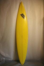 """【中古】BUSH MAN(ブッシュマン)サーフボード [YELLOW] 8'0""""  BIG WAVE用 ONFIN ガン"""