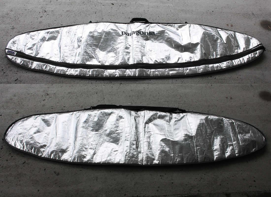 """【中古】Patagonia(パタゴニア)サーフボード用 ボードケース[SILVER] 7'6"""" ショルダーストラップ付 ハードケース"""