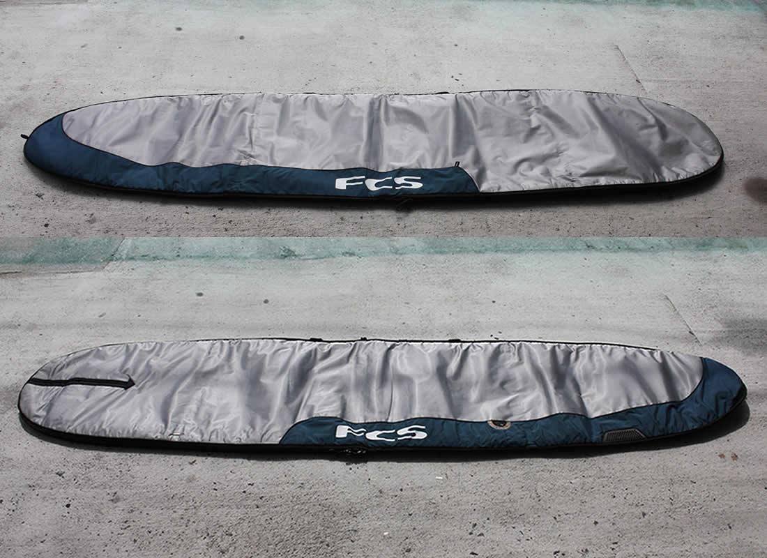 """【中古】FCS(エフシーエス)サーフボード用 ボードケース[SILVER/GREEN] 9'7"""" ハードケース"""