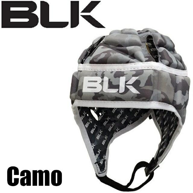 BLK エキゾテック ヘッドガード Camo AR008-026 ラグビー ブラック ヘッドギア