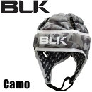 BLKエキゾテックヘッドガードBlackAR008-022ラグビーブラックヘッドギア