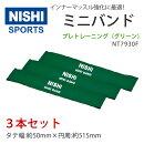 NISHIニシ・スポーツミニバンドインナーマッスルトレーニングチューブNT7930Fプレトレーニンググリーン3本組セット