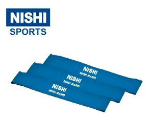 ニシ・スポーツ ミニバンド レジスタンス ブルー 3本組 NT7930G NISHI 体幹 コア
