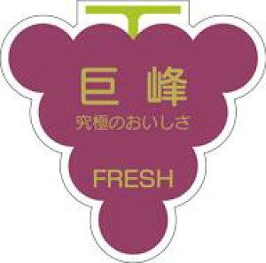 販促シール 食品シール 催事シール デコシール ギフトシール 業務用シール【青果 ぶどう 巨峰 LZ22(500枚入)】