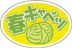 販促シール 食品シール 催事シール デコシール ギフトシール 業務用シール【青果 春キャベツ LZ664(500枚)】