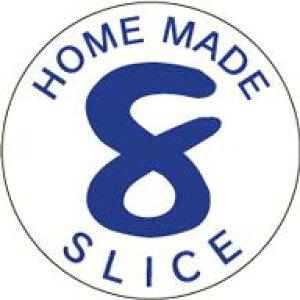 販促シール 食品シール 催事シール デコシール ギフトシール 業務用シール【食品ラベル 8枚切 LQ658(500枚)】