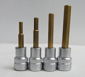HAZETハゼット 3/8Dr.ヘックス(6角)SET 4-5-6-8mmの4本SET 8801-4SPC