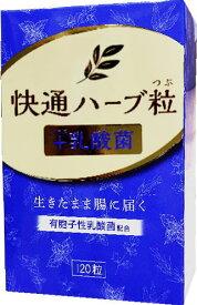 新発売! 快通ハーブ粒+乳酸菌 120粒ナチュラルウェーブ【ゆうメールのみ送料無料】