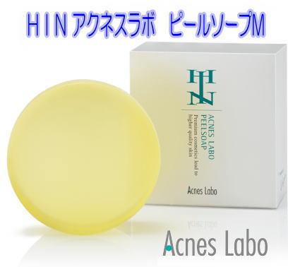 アクネスラボ HIN アクネスラボ ピールソープM 100g枠練石鹸 イソフラボン配合 AHA5% ★