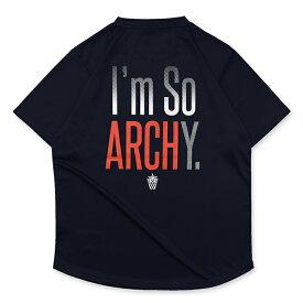Arch(アーチ)Tシャツ ショートスリーブ Im so ARCHY tee[DRY]【navy】バスケ ウェア