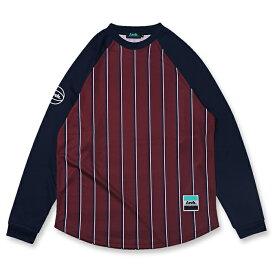 Arch(アーチ)Tシャツ ロングスリーブ trad stripe L/S tee [DRY]【burgundy】バスケ ウェア