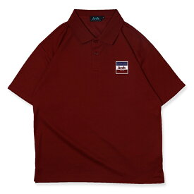 Arch(アーチ)ポロシャツ trico logo polo [DRY]【burgundy】バスケ ウェア